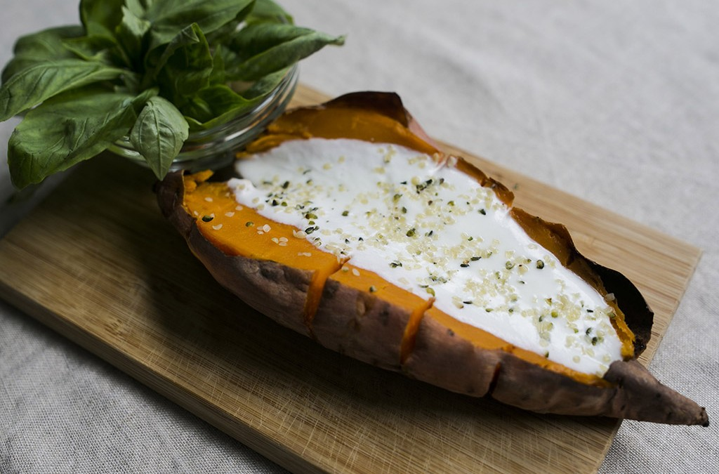 Baked Sweet Potato with Coconut