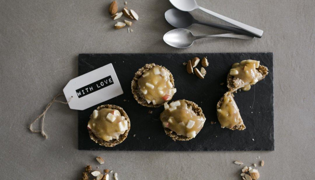 Raw Apple Tarts with Caramel