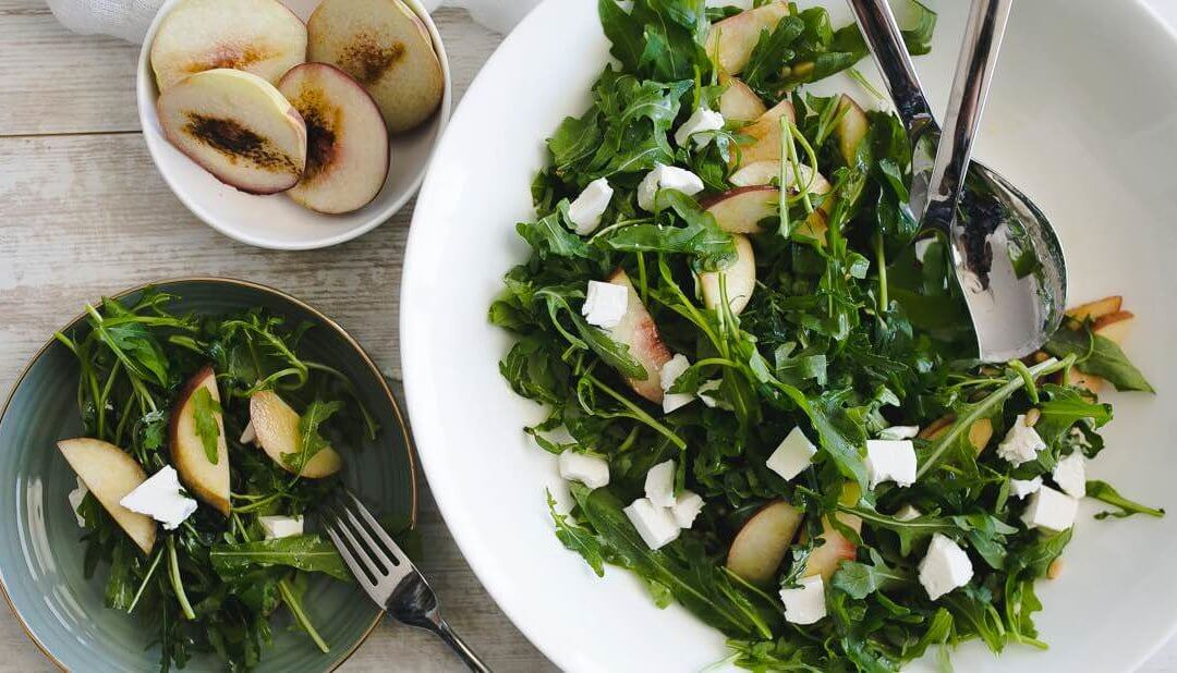 Summer Peach Arugula Salad