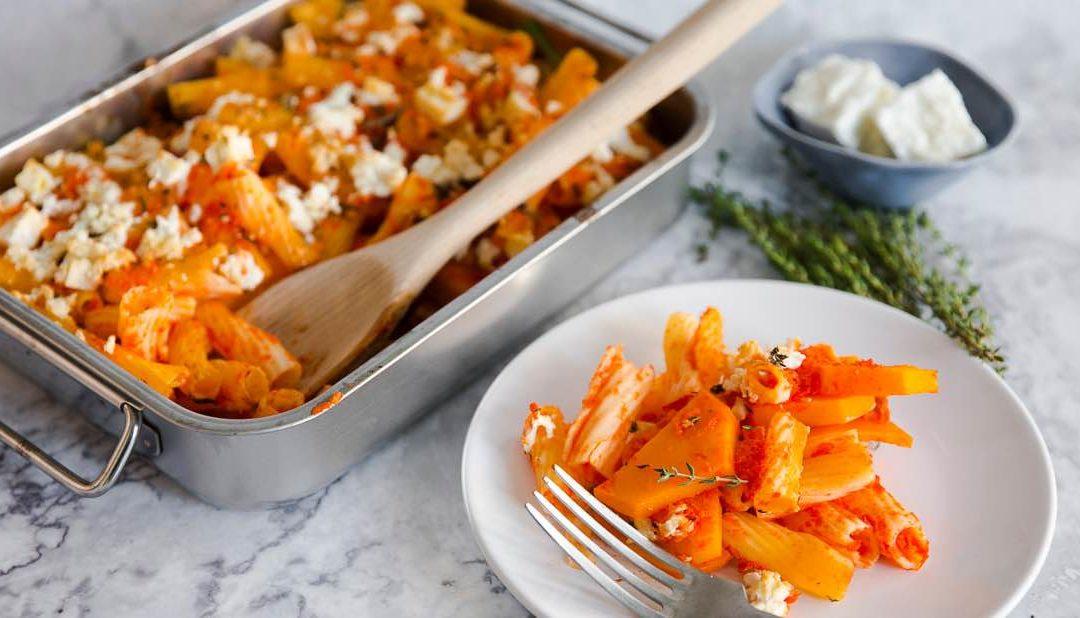 Pumpkin Pepper Pasta Casserole